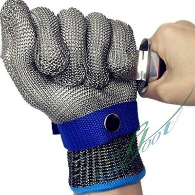 Stainless Steel Glove Anti Cut Protection Chain Mesh Glove Cut Resistant L【US】