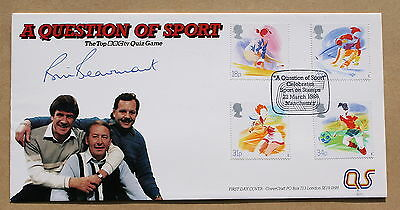 Sport 1988 Covercraft Fdc Rugby Question Of Sport H/S Signed By Bill Beaumont