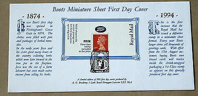Boots Promotional Label 1995 Bradbury  Fdc Nottingham Handstamp