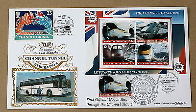 Channel Tunnel First Coach Run/european Postal Rate 1998 Benham Cover Multi  H/s