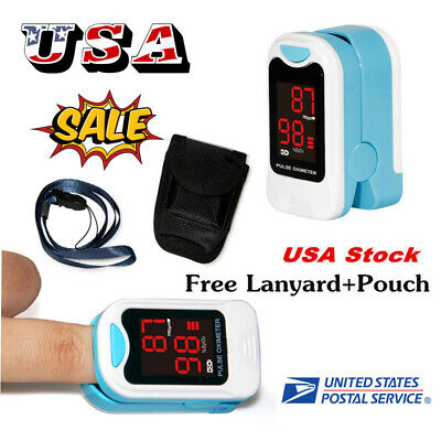 Finger Fingertip Blood Oxygen Meter SPO2 LED Pulse Heart Rate Monitor,battery