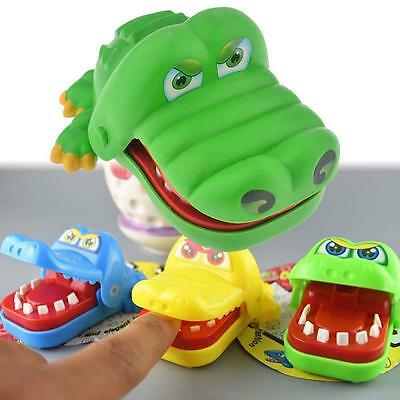 Cute Mini Crocodile Mouth Dentist Bite Finger Game Toy For Kids Adult Funny W3