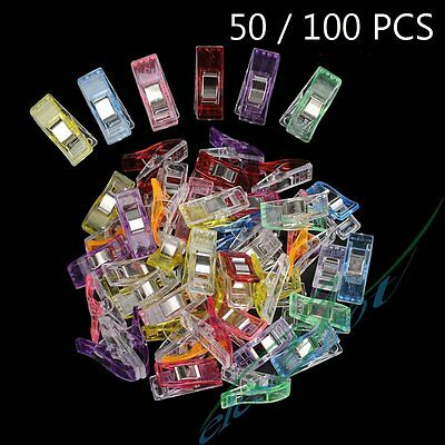50/100PCS Wonder Clips for Craft Quilting Sewing Knitting Crochet Stationey