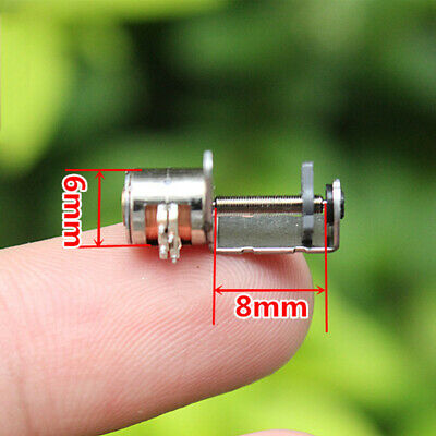 DC 12V 20mm 2-Phase 4-Wire Mini Full Metal Gearbox Gear Stepper Motor Reduction