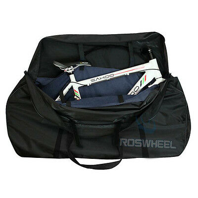 #Folding Travel Mountain Road Whole Bike Bicycle Frame Bag Transport Carrier@W