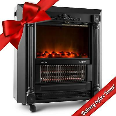 New 1850W Electric Coal Burning Fireplace Realistic Flame Effects Stove Heater