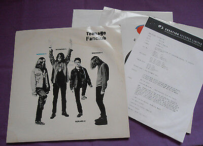 "Teenage Fanclub - Norman 3 12"" 1993 Creation LTD w/ poster & promo sheet"