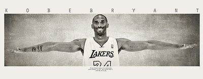 003 Solid Wooden Framed - Kobe Bryent Wings NBA 28x14 inch Poster