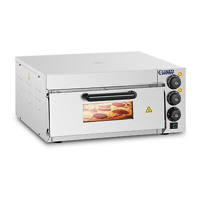 Royal Catering Four à pizza électrique Inox 2000W 230V 350 °C 40x40x1,5cm