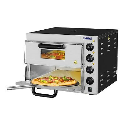 Stone Pizza Oven Commercial Pizza Baking Twin Deck Electrical 3000W Pizza Oven