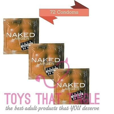 Four Seasons Naked Larger condoms 72 condoms free shipping