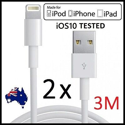 1M 3M USB Lightning Data Charger Cable Cord for Apple iPhone 7 6 6S 5 iPad 4 Air
