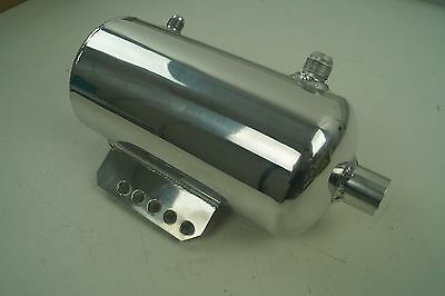 1.5 Litre Oil Catch Tank, Polished Aluminium, AN Ports. Header/Expansion Tank