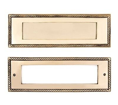 Cast brass rope mail slots for entry doors