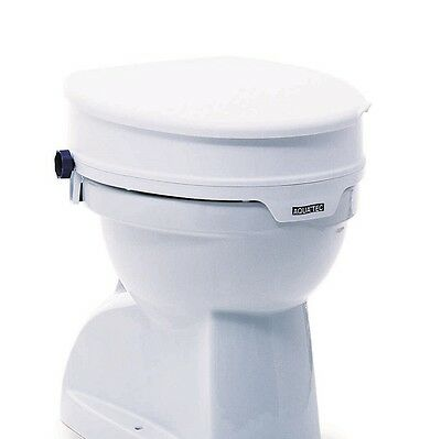 Invacare Aquatec raised toilet seat mobility aid toilet raiser with lid