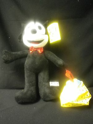 "15"" Stuffed New Felix the Cat with Bag of Tricks"