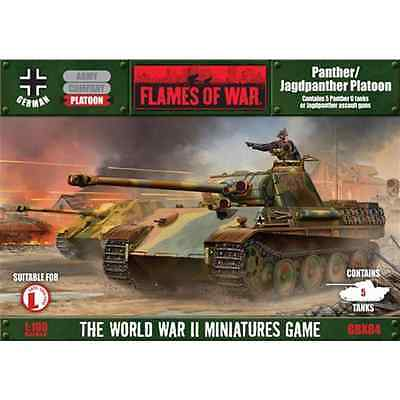 FoW-GBX84 - FLAMES of WAR: 15mm; Panther/Jagpanther (Plastic) (5 tanks in a box)