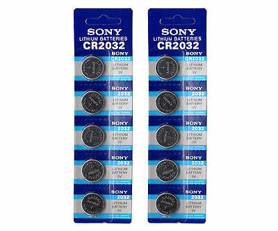 10 x SONY CR2032 3V Lithium Battery Coin Cell CMOS Calculator Watch Batteries