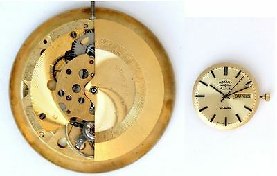 ROTARY AS 2066 original automatic watch movement for parts / repair (4571)