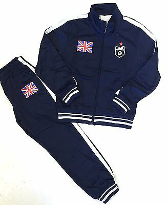 Football Tracksuit Bottom Boys New England Top Training Kit Set Size Age 4-12 Y