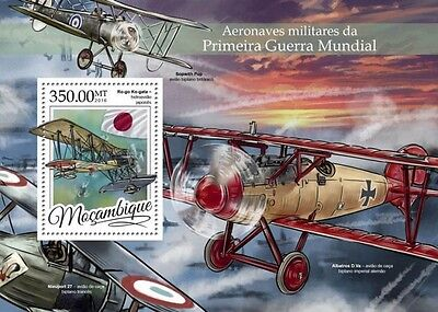 Z08 MOZ16317b MOZAMBIQUE 2016 Military aircrafts of WWI MNH