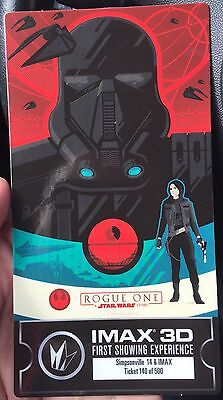 Star Wars Rogue One - Collectible 1st Version Limited Movie Ticket