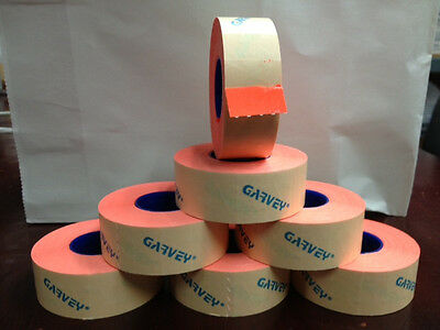 Genuine Garvey Labels For Price Gun 22-6  22-7  22-8 Red Fluorescent 27 Rolls