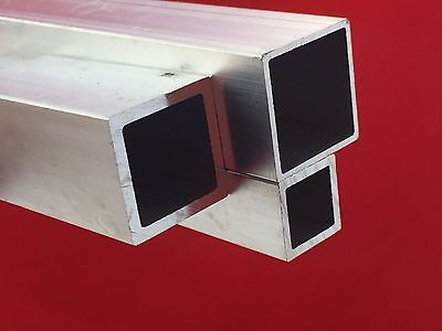 ALUMINIUM SQUARE / RECTANGULAR SECTIONS Box Tube Various Sizes  2 M To 5 M LONG