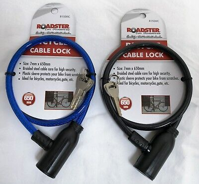 Combination Number Code Bike Bicycle Cycle Lock 6mm by 550mm Steel Cable Chain.