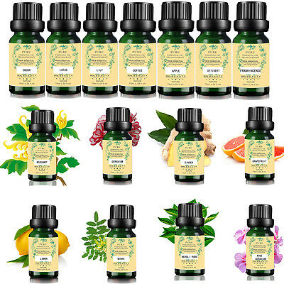 62 Scent Pure Aromatic Nature Plant Essential Oils 10ml Aromatherapy Therapeutic