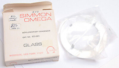 Omega 472-001 Supplementary Condenser for B-22 Enlarger - NEW Old Stock D100A