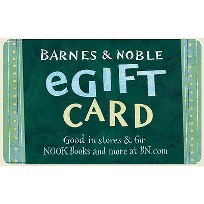 Barnes & Noble Gift Card  - $25, $50 or $100 - Fast Email delivery