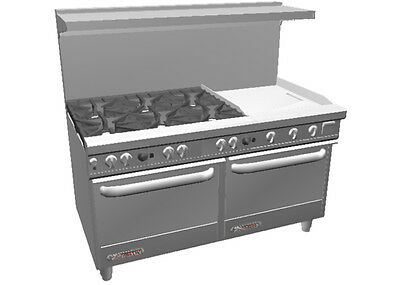 """Southbend S60DD-2T* S-Series 60"""" Range w/ 24"""" Therm. Griddle & 2 Standard Ovens"""