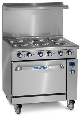 Imperial Range IR-6-E-C Imperial 6 Burner Electric Range with Convection Oven