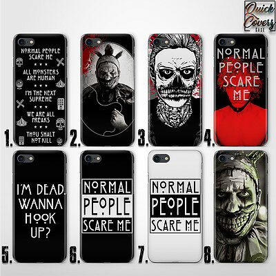 HORROR STORY EVAN PETERS THIN UV CASE COVER FOR IPHONE 4/4s 5/5s/se 6/6s plus 7