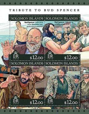 Z08 SLM16302a SOLOMON ISLANDS 2016 Bud Spencer MNH