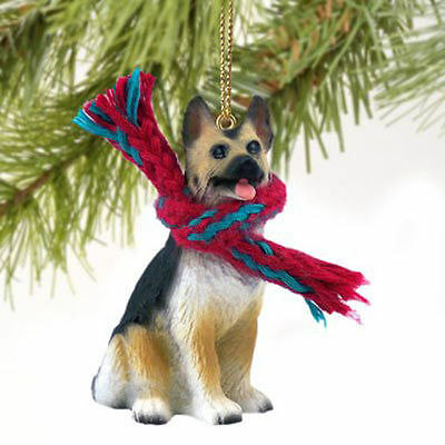 Resin German Shepherd Tiny One Scarf Ornament