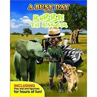 A Busy Day With Robbie the Ranger - book, figures & play mat