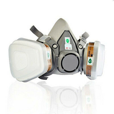 Double Gas Mask Protection Filter Chemical Respirator Mask 6200 N95