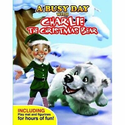 A Busy Day With Charlie the Christmas Bear  - book, figures & play mat