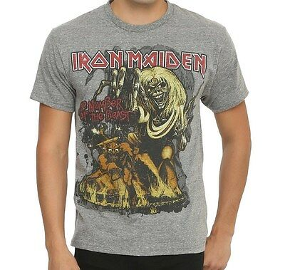 Iron Maiden NUMBER OF THE BEAST NOB T-Shirt NEW Licensed & Official