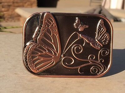 """Butterflies"" Belt Buckle with Pipe"