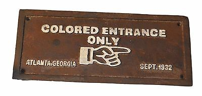 Colored Entrance Only Black Americana Cast Iron Sign
