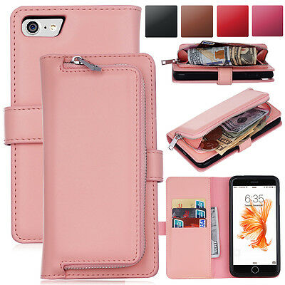 New Magnetic Removable Wallet Flip Card Leather Case Cover For iPhone 6 6s Plus