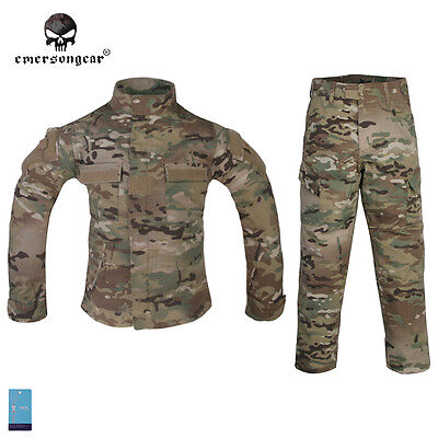 Emerson Combat Uniform For 6Y-14Y Children Kids Hunting Army BDU Multicam EM6929