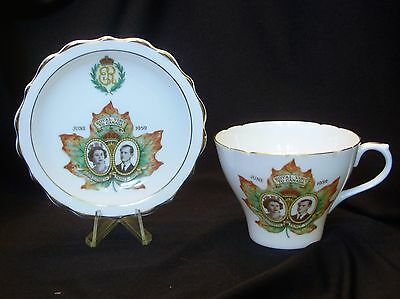 Royal Visit to Canada, Commemorative China Cup and Plate, Queen Elizabeth II
