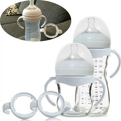 Bottle Grip Handle for Avent Natural Wide Mouth PP Glass Baby Feeding Bottles W