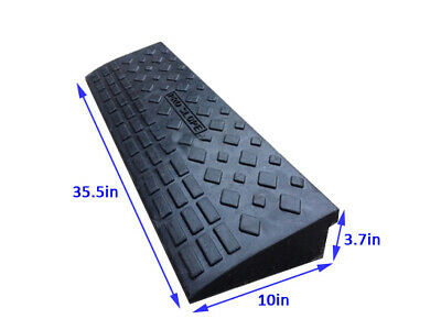 4'' Rubber Loading Dock Rubber Curb Ramps 20 Ton Car Ramp