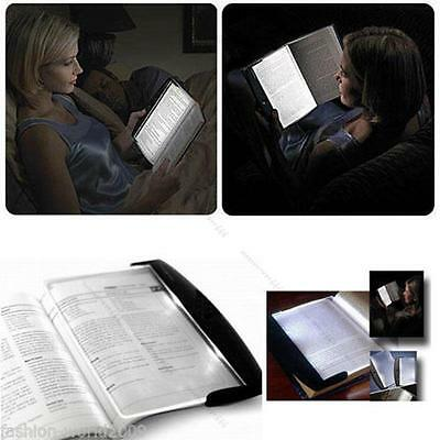 Paperback Night Vision Travel Reading Book Page LED Light Lamp #L Wedge Panel