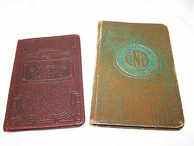 CITIZEN'S NATIONAL BANK 1936 & 1939 BANK BOOKS Meyersdale, Penna. Collectible